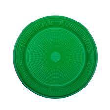 Prato Plástico Trik-Trik 15Cm Raso Verde Escuro Com 10