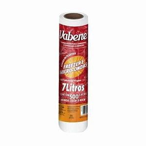 Saco Plástico em Bobina Freezer Microondas Vabene 33X40Cm 7 Litross R.2602 Rolo