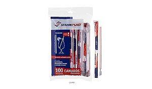Canudo Plástico Mexedor Sache 6Mm Strawplast R.Cs401 Pacote com 100