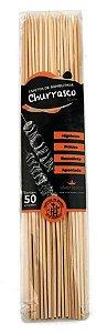 Espeto De Bambu Silver Plastic Natural 25Cm R.Ha226 com 50