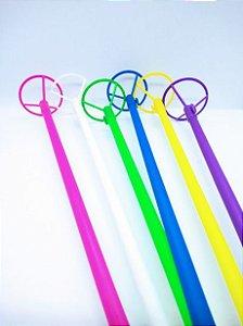 Suporte Vareta Para Balão, Bola Ou Bexiga Para Festa 40cm Altura Cor Sortida Pink/Branco/Verde Claro/Azul Escuro/Amarelo ou Lilás Unidade