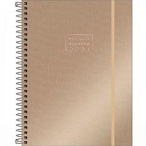 Agenda Espiral Tilibra 2021 Planner West Village Metalizado E2 Dourado R.314307 Unidade