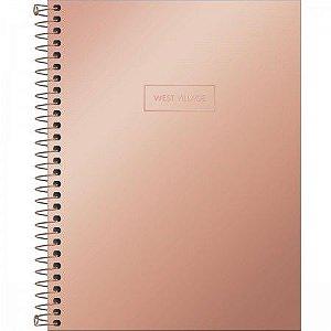 Caderno Espiral Capa Dura Colegial Metalizado 10 Matérias Tilibra West Village 160 Folhas R.235598 E1 Unidade