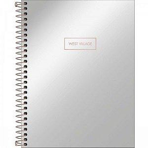 Caderno Espiral Capa Dura Colegial Metalizado 10 Matérias Tilibra West Village 160 Folhas R.235598 E3 Unidade