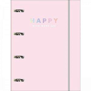 Caderno Argolado Com Elástico Universitário Tilibra Happy 80 Folhas R.305626 Unidade