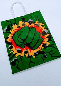 Sacola De Papel Hulk 18X09X22 Cm Unidade