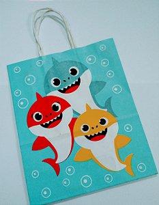Sacola De Papel Baby Shark 18x09x22 Cm Unidade