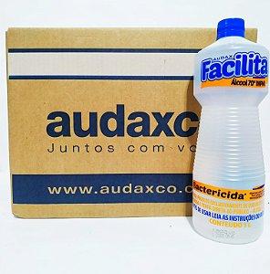Álcool Facilita 70º Inpm Bactericida Caixa Com 12 Unidades