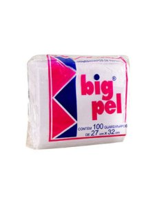 Guardanapo Big Pel Cor Branco 27cm x 32cm Pacote Com 100