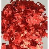 Confete Metalizado Para Balão ou Bola - Picados Vermelho R.Af101-21/27