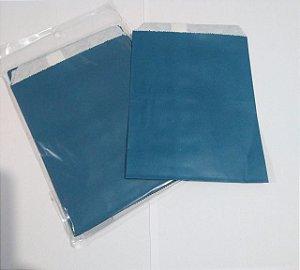 Saquinho de Papel Azul Petróleo 13cm X18cm R.ep2088 Pacote Com 25