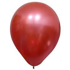 Bola Sao Roque Metallic Balloons Vermelho N9 Com 25