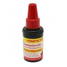 Reabastecedor para Pincel Permanente Compactor Cor Vermelho 20ml Unidade