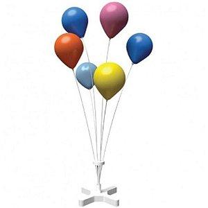 Suporte de Fibra para Balão Cor Branco 60 Centímetros Com 6 Hastes R.dc1013/3030/1020 Unidade