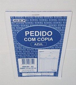 Talão de Pedido Com Cópia Cor Azul São Domingos 137mm x 207mm Com 25 Folhas R.6652 Unidade