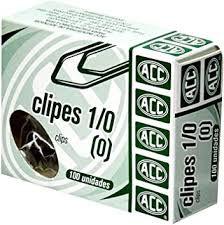 Clipe de Aço Galvanizado Acc Número 1/0 Caixa Com 100