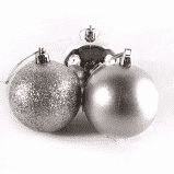 Bola de Natal Pvc 6cm Cor Prata R.ntb85606 Pacote Com 6