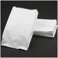 Saco de Papel Kraft Cor Branco 3 Kilos Pacote com 100