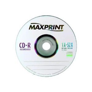 Cd-r 52x 700 Megabytes 80 Minutos Unidade