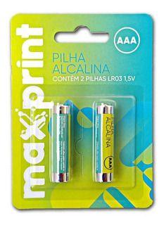 Pilha Alcalina Aaa Maxprint R.756358 Cartela Com 2