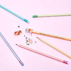 Lápis Preto Hb Leoleo Perolado Com Borracha Pastel Trend Cor Sortida R.72175 Unidade
