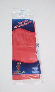 Papel de Bala Dafesta Com Uma Franja Cor Vermelho Pacote Com 48