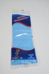 Papel de Bala Dafesta Com Duas Franjas Cor Azul Claro Pacote Com 48