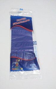Papel de Bala Dafesta Com Duas Franjas Cor Azul Escuro Pacote Com 48