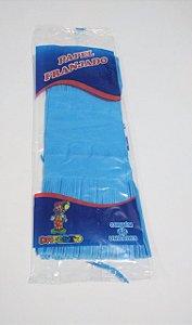 Papel de Bala Dafesta Com Duas Franjas Cor Azul Turquesa Pacote Com 48