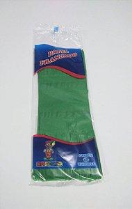 Papel de Bala Dafesta Com Duas Franjas Cor Verde Bandeira Pacote Com 48