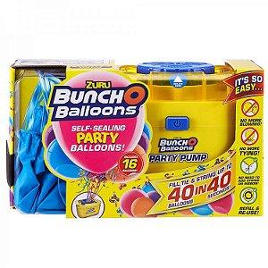 Kit Inflador De Balões Elétrico Bunch Baloons Party + 16 Baloes De Cor do Balão Sortida