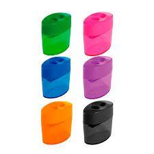 Apontador Oval Plástico Com Depósito Duplo Leoleo Cores Sortidas R.4534 Unidade