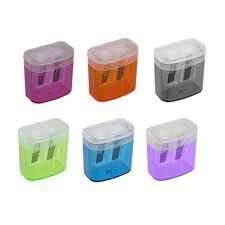Apontador Plástico Depósito Duplo Com Cestinha Leoleo Cores Sortidas R.4568 Unidade
