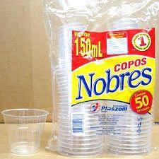 Copo Plástico Plaszom Nobre 150ml Pacote Com 50