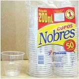 Copo Plástico Plaszom Nobre 200ml Pacote Com 50