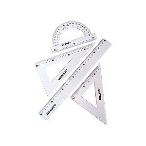 Jogo Geométrico Leoleo 1º Grau Cores Com 4 Peças R.4463 Unidade