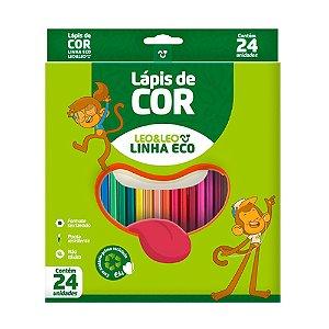 Lápis de Cor Ecológico Leoleo Com 24 Cores Sortidas  R.4222