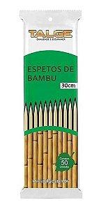 Espeto de Bambu para Churrasco 30cm Pacote Com 50