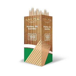 Palito Dental de Bambu Talge Caixa Com 100