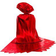 Saco para Presente Cromus Metalizado Vermelho 15cm x 22cm Unidade