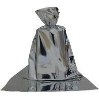 Saco para Presente Cromus Metalizado Prata 15cm x 22cm Unidade