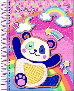 Caderno Espiral 1/8 Capa Dura Sortida Jandaia Sweetness 10cm x 14cm Com 80 folhas R.68906 Unidade