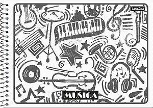 Caderno Espiral Para Música Capa Flexível Sortida Jandaia Basic Art 20cm X 14cm Com 40 folhas R.69694 Unidade