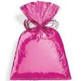 Saco para Presente Cromus Metalizado Rosa 20cm x 29cm (não Acompanha o Laço) Unidade
