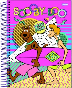 Caderno Espiral Capa Dura Sortida 1/4 Jandaia Scooby Doo 14cm x 20cm Com 80 folhas R.69151 Unidade