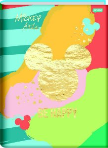 Caderno Brochura Universitário Capa Dura Sortida Jandaia Mickey Arts 20cm X 27cm Com 80 folhas R.69486 Unidade