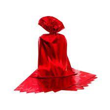 Saco para Presente Cromus Metalizado Vermelho 25cm x 37cm (não Acompanha o Laço) Unidade