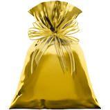 Saco para Presente Cromus Metalizado Dourado 30cm x 44cm (não Acompanha o Laço) Unidade