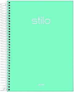Caderno Espiral Universitário Capa Dura Jandaia Stilo Verde Pastel 20cm x 27cm 1 matéria R.68852 Unidade