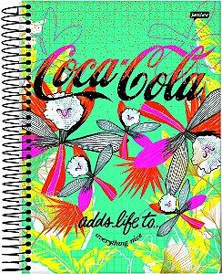 Caderno Espiral 1/8 Capa Dura Sortida Jandaia Coke Girl 10cm x 14cm Com 80 folhas R.69491 Unidade